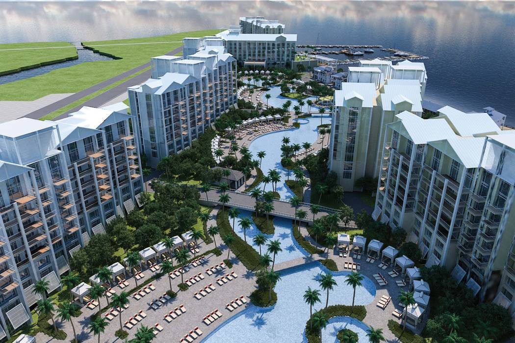 Allegiant Airlines announced plans to build a beachfront resort with a hotel, nine condominium towers and a marina in in Port Charlotte, Florida. (Allegiant Travel Co.)