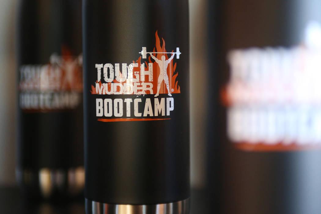 Water bottles at a Tough Mudder Bootcamp class in Las Vegas, Sunday, Sept. 16, 2018. Rachel Aston Las Vegas Review-Journal @rookie__rae