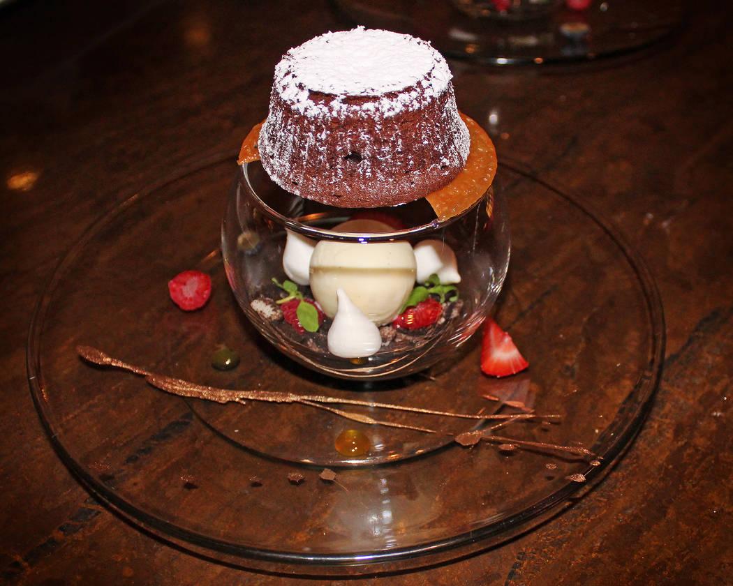 Upside-Down Chocolate Lava Cake a La Mode (M Resort)