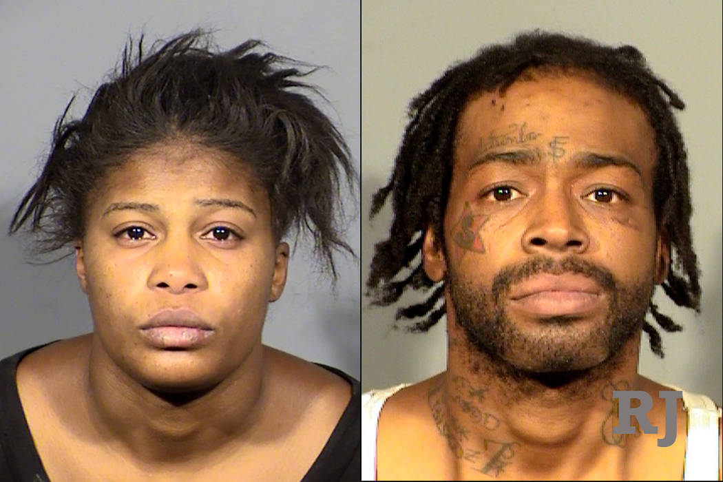 Aisha Thomas, left, and Don Edward Hunt, Jr., right (Las Vegas Metropolitan Police Department)