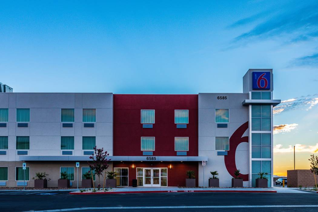 A newly built Motel 6 opened near the Las Vegas Motor Speedway on Sept. 1. (CCM Hospitality)