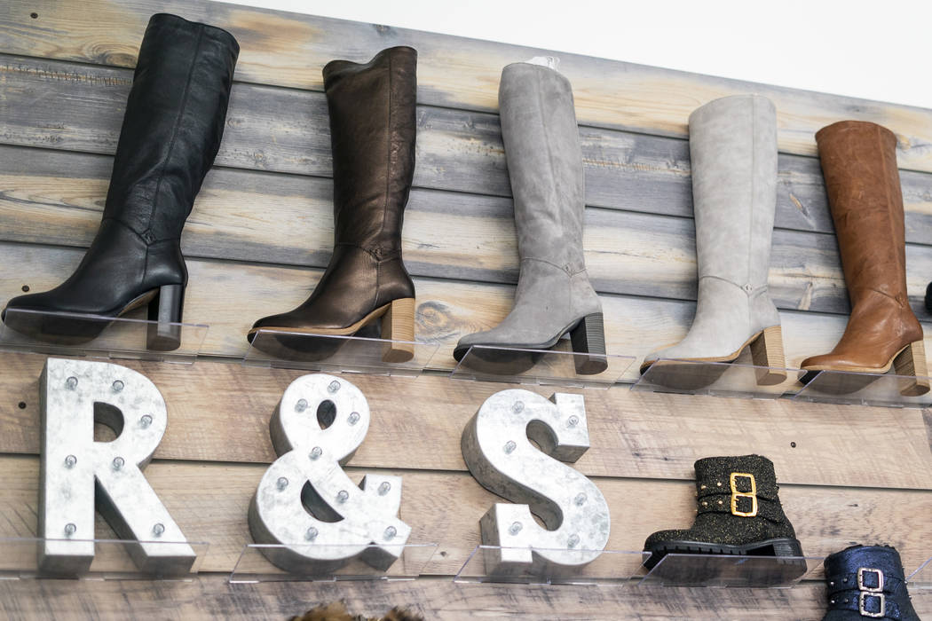 Ross & Snow footwear photographed at the company's headquarters in downtown Las Vegas, Monday, Sept. 10, 2018. (Marcus Villagran/Las Vegas Review-Journal) @marcusvillagran