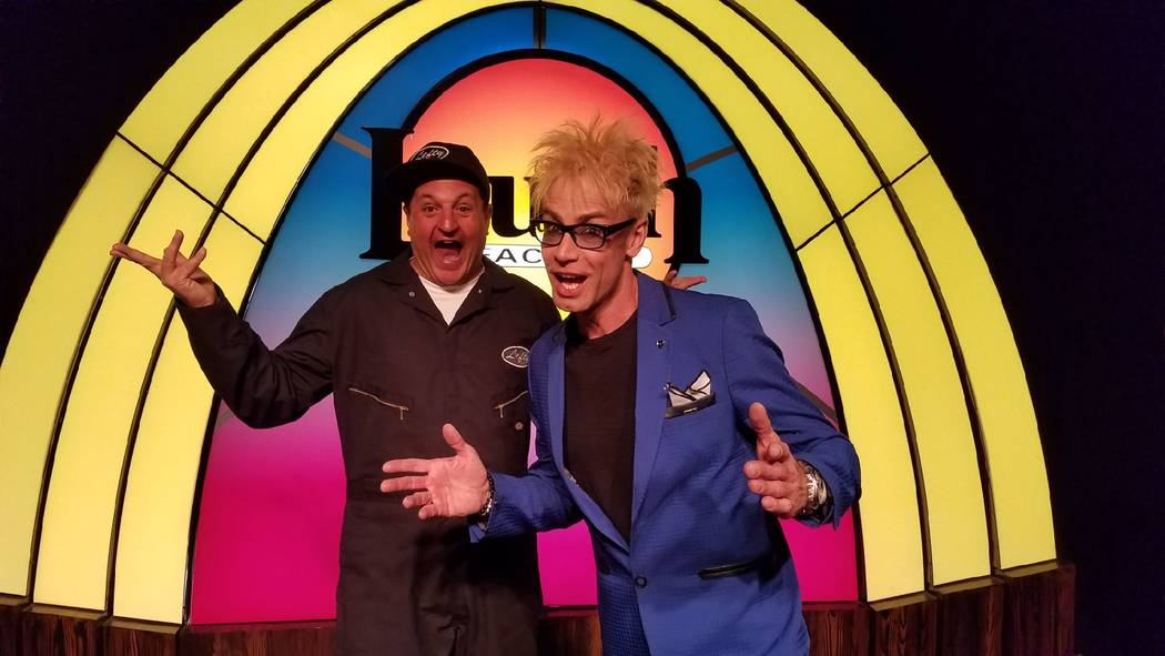 """Doug """"Lefty"""" Leferovich and Murray Sawchuck are shown at Laugh Factory at Tropicana. (Murray Sawchuck)"""