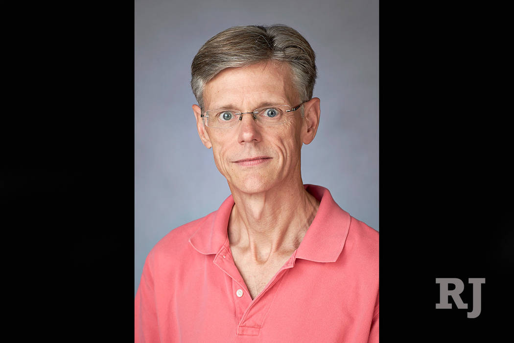 Stephen Bates, associate professor of journalism and media studies, on Aug. 20, 2013. (Aaron Mayes / UNLV Photo Services)