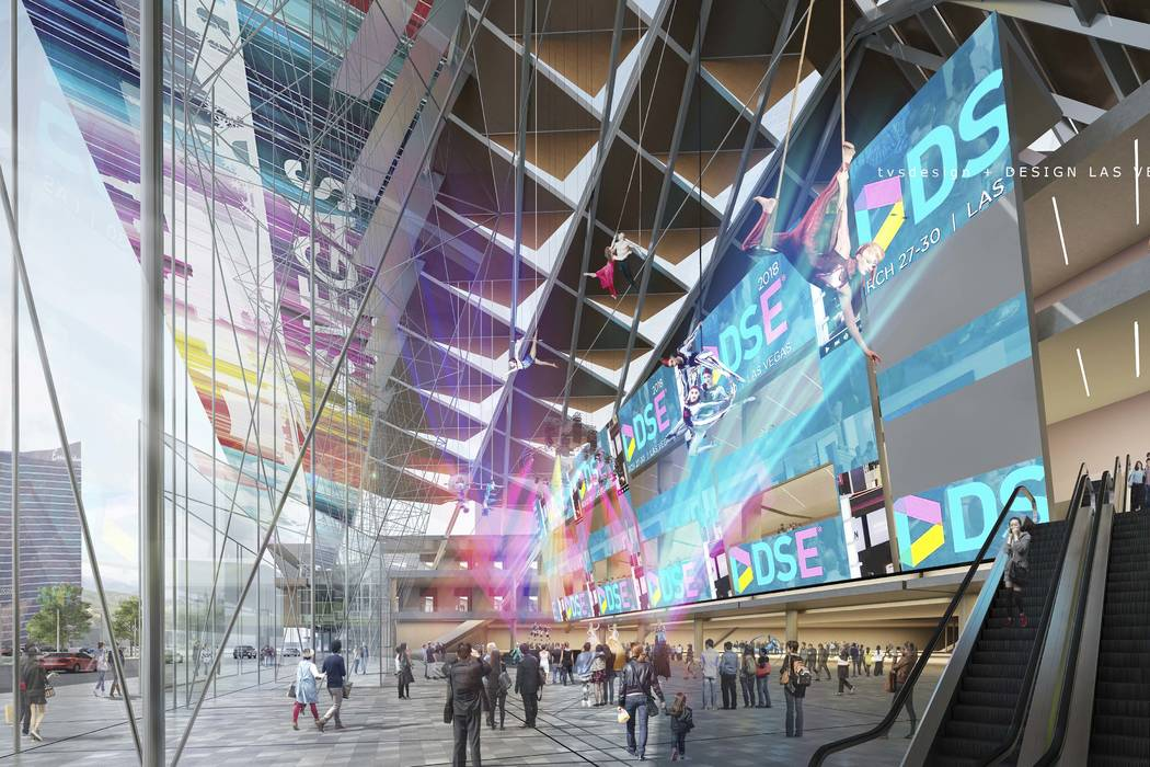 A conceptual rendering of the Las Vegas Convention Center District Phase Two Expansion (TVS Design/Design Las Vegas)