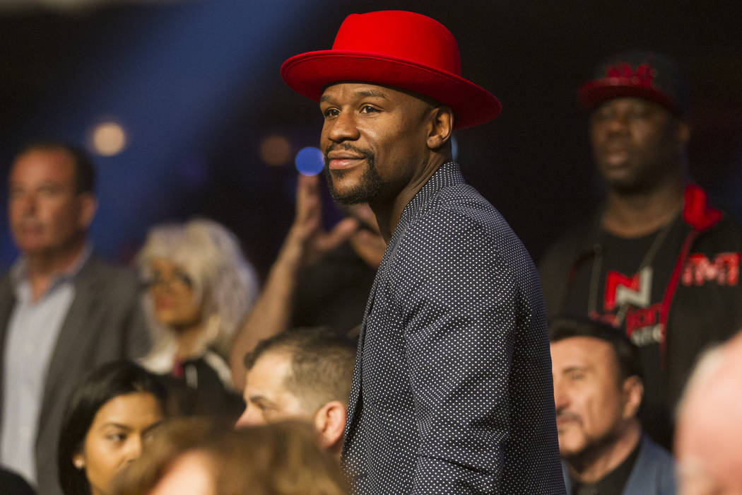 Floyd Mayweather Jr. at the Hard Rock casino-hotel in Las Vegas, Saturday, April 7, 2018. Erik Verduzco Las Vegas Review-Journal @Erik_Verduzco