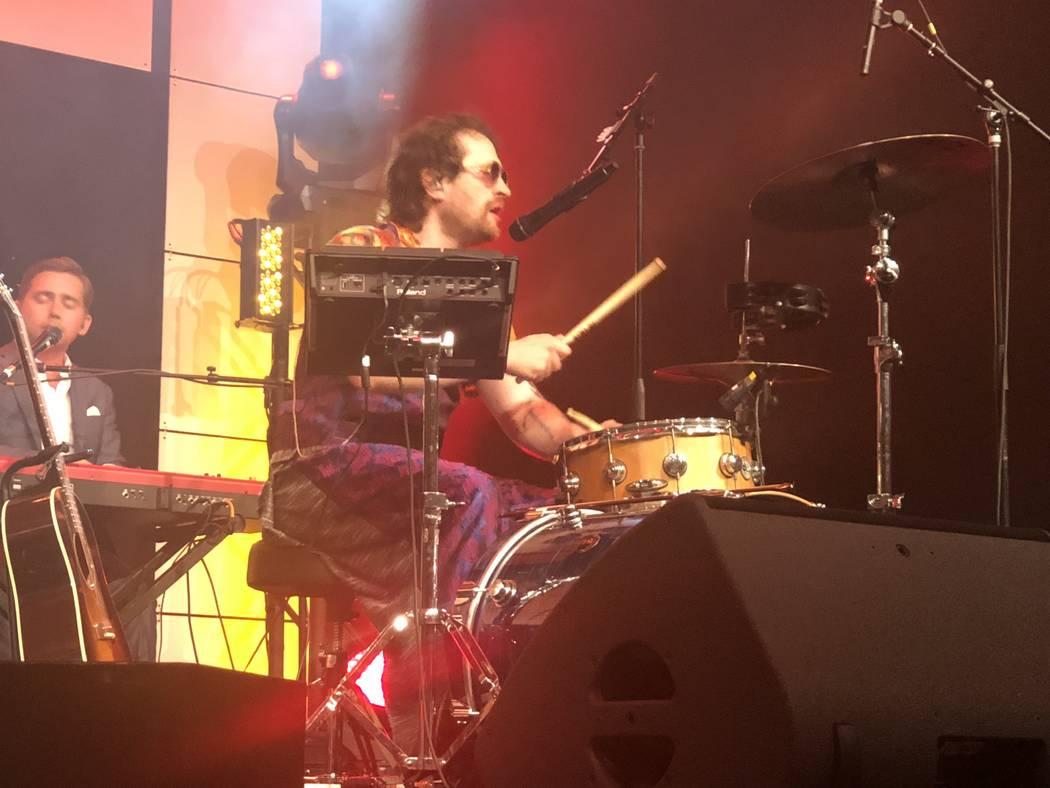 Daniel Platzman of Imagine Dragons is shown at the Tyler Robinson Foundation Rise Up Gala at Caesars Palace on Friday, Sept. 14 2018. (John Katsilometes/Las Vegas Review-Journal) @JohnnyKats