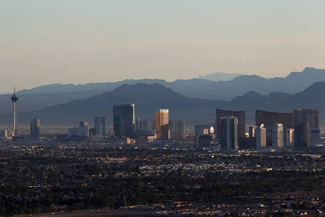 The Las Vegas Valley will remain warm, breezy and dry this week, according to the National Weather Service. (Las Vegas Review-Journal)