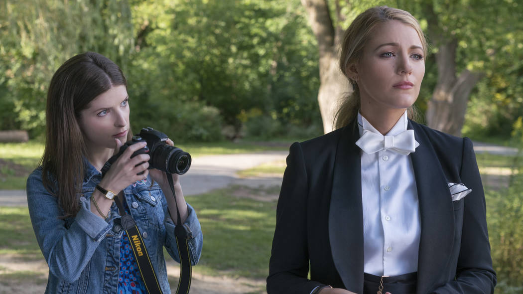 "This image released by Lionsgate shows Anna Kendrick, left, and Blake Lively in a scene from ""A Simple Favor."" (Peter Iovino/Lionsgate via AP)"