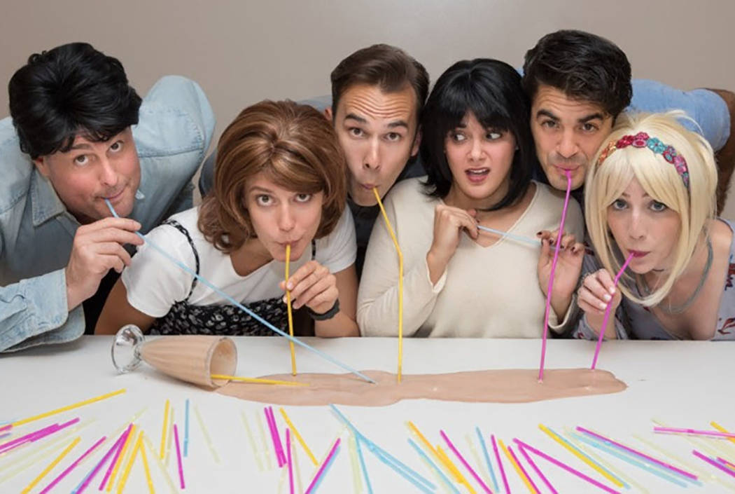 "The New York cast of ""Friends! The Musical Parody"" is shown in a promotional photo. (Lynn Shore Entertainment)"