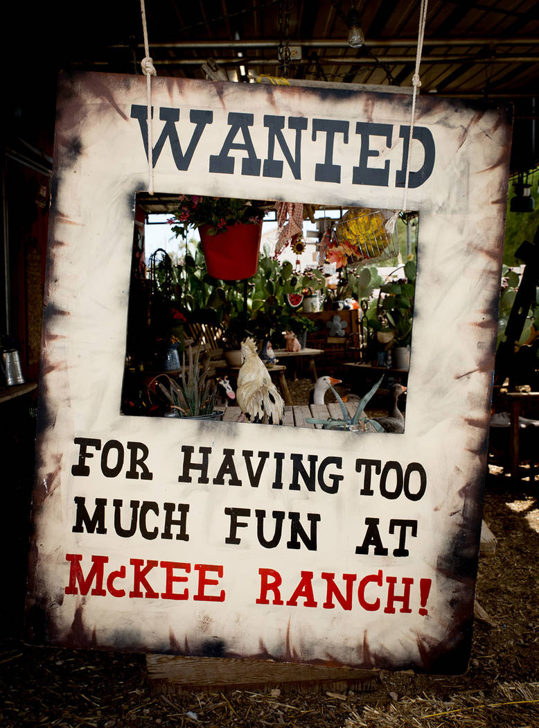 A poster at the McKee Ranch is among the homeowners' many collectibles. (Tonya Harvey Real Estate Millions)