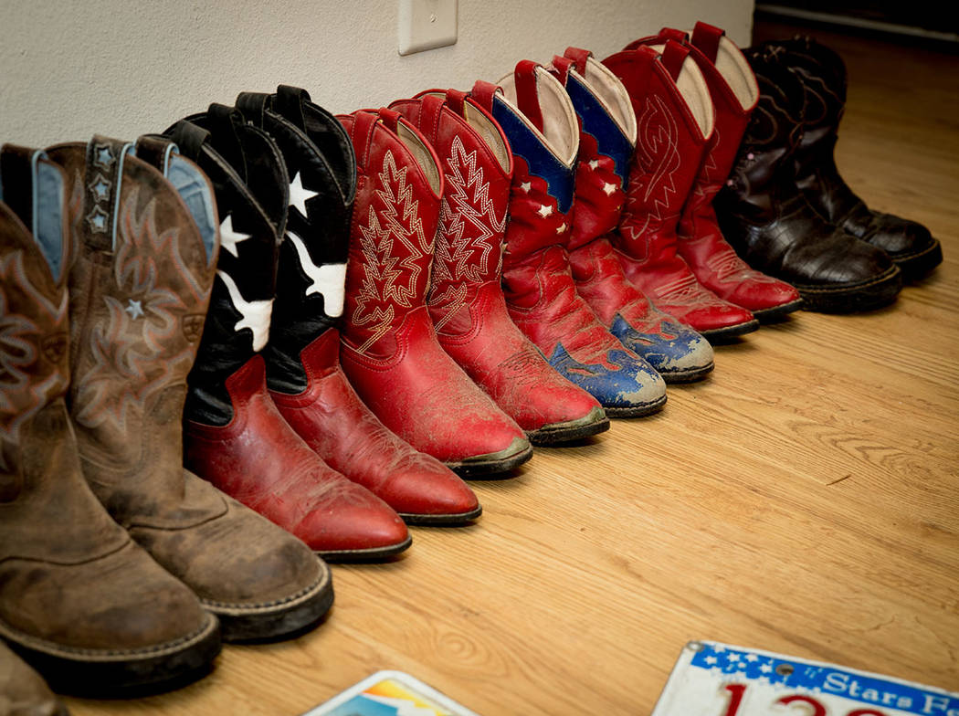 Max and Christi McKee keep cowboy boots for their grandkids when the come to visit the ranch. (Tonya Harvey Real Estate Millions)