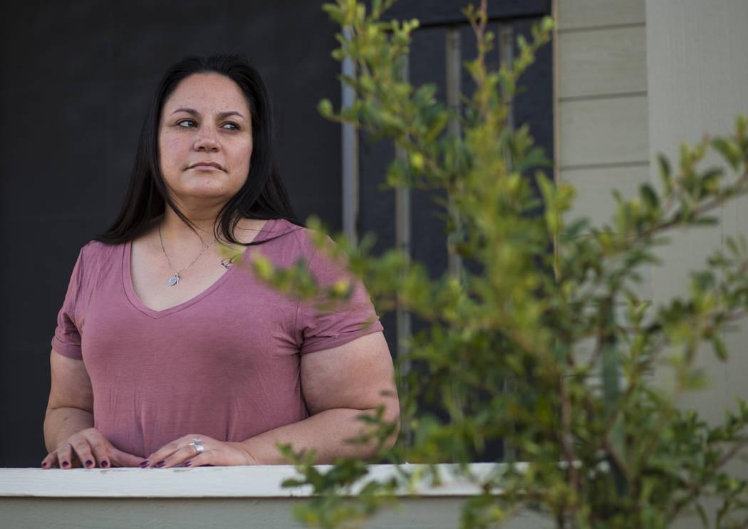 Malinda Baldridge at her home in Reno on Monday, Sept. 24, 2018. (Chase Stevens/Las Vegas Review-Journal) @csstevensphoto