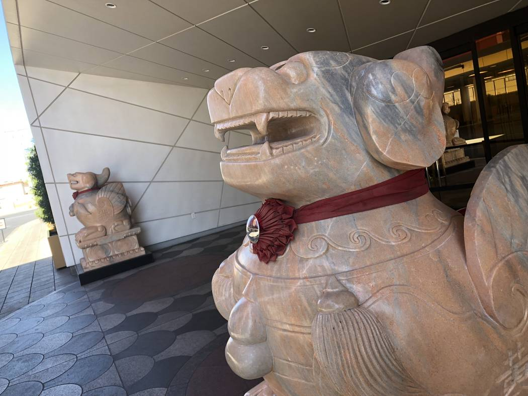 The Lucky Dragon Hotel and Casino on September 11, 2018, in Las Vegas. (Mat Luschek/Las Vegas Review-Journal)