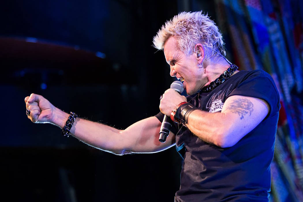 Billy Idol performs at House of Blues in Mandalay Bay. (Joey Ungerer)
