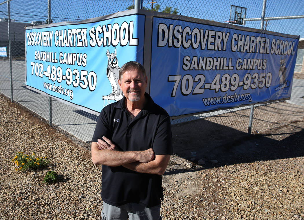 John Haynal, the state receiver of Discovery Charter School, poses for photo on Friday, Sept. 14, 2018, in Las Vegas. (Bizuayehu Tesfaye/Las Vegas Review-Journal) @bizutesfaye