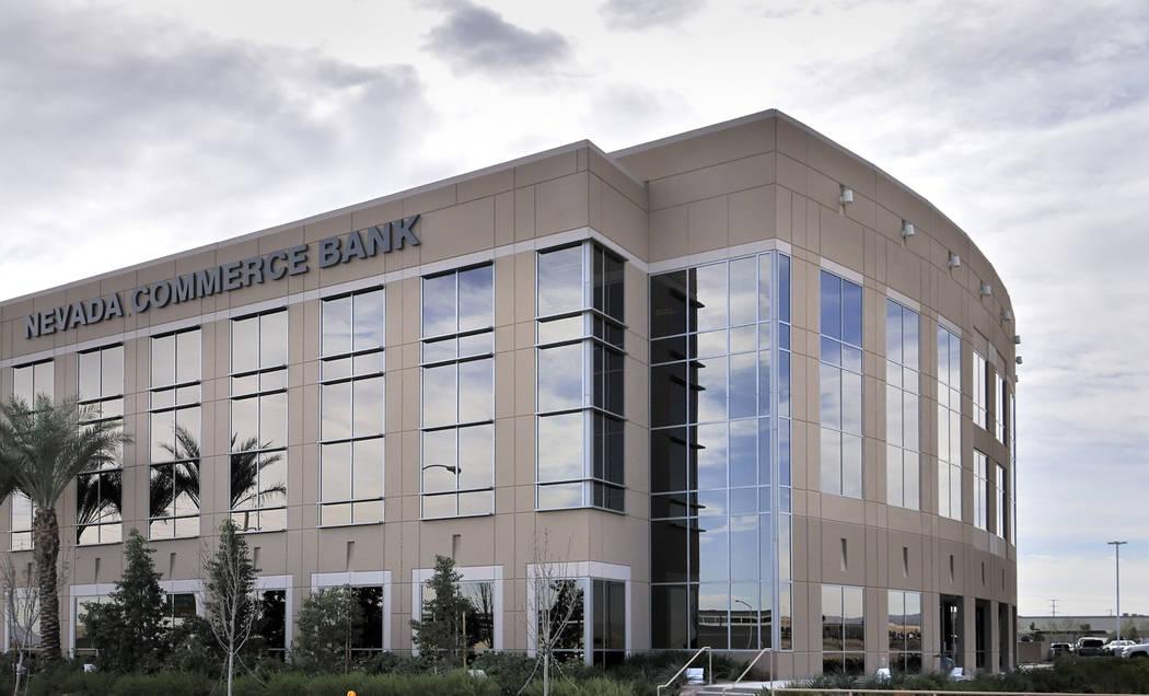 Nevada Commerce Bank building on Edmond Street (Bill Hughes/Las Vegas Review-Journal)