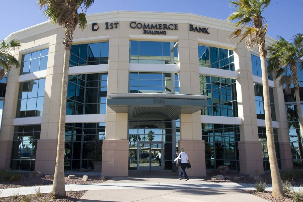 An exterior photo of the 1st Commerce Bank located at 5135 Camino Al Norte Tuesday November 9, 2010. Craig L. Moran/Las Vegas Review-Journal