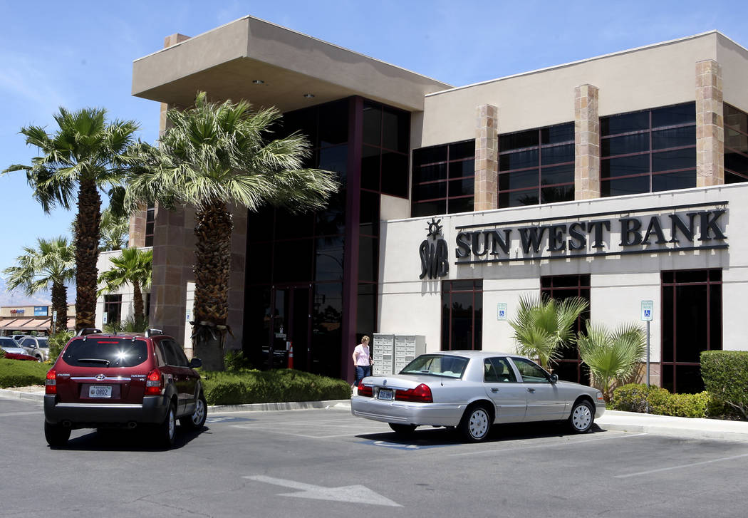 A Sun West Bank branch is shown at 5830 W. Flamingo Road on Friday, May 28, 2010, in Las Vegas. John Gurzinski/Las Vegas Review-Journal