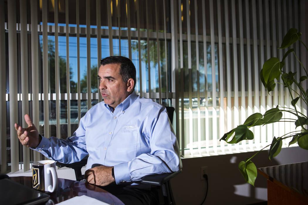 Clark County Coroner John Fudenberg talks about the night of Oct. 1 at the coroner's office near downtown Las Vegas on Thursday, Sept. 13, 2018. Chase Stevens Las Vegas Review-Journal @csstevensphoto