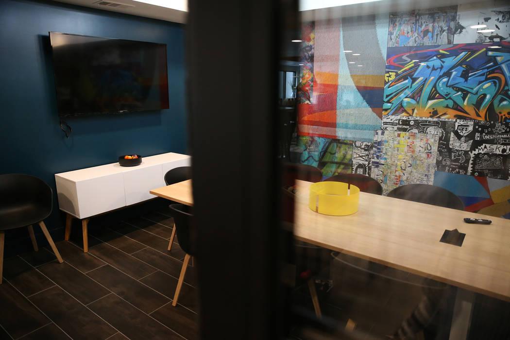 A meeting room at Fremont9, a new apartment complex in downtown Las Vegas at Fremont and 9th Street in Las Vegas, Tuesday, Sept. 18, 2018. Erik Verduzco Las Vegas Review-Journal @Erik_Verduzco