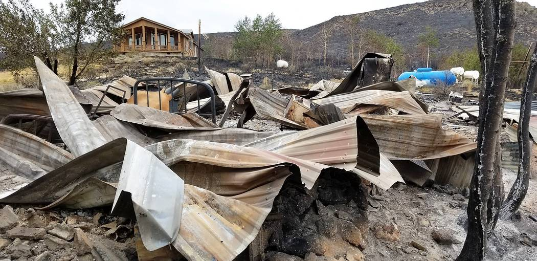 The South Sugarloaf Fire burned three of the four buildings that comprised the headquarters at Wildhorse Ranch. The U.S. Forest service has lifted public access restrictions in all hunt units. (Ro ...