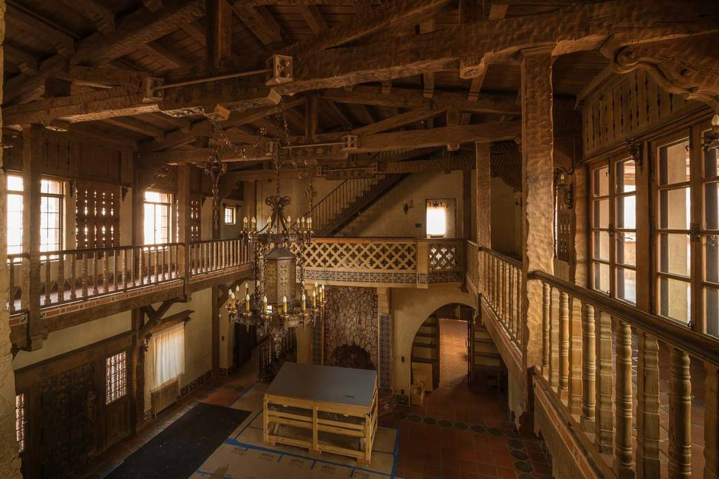The Great Hall inside Scotty's Castle at Death Valley National Park as seen on Jan. 23, 2017. Kurt Moses