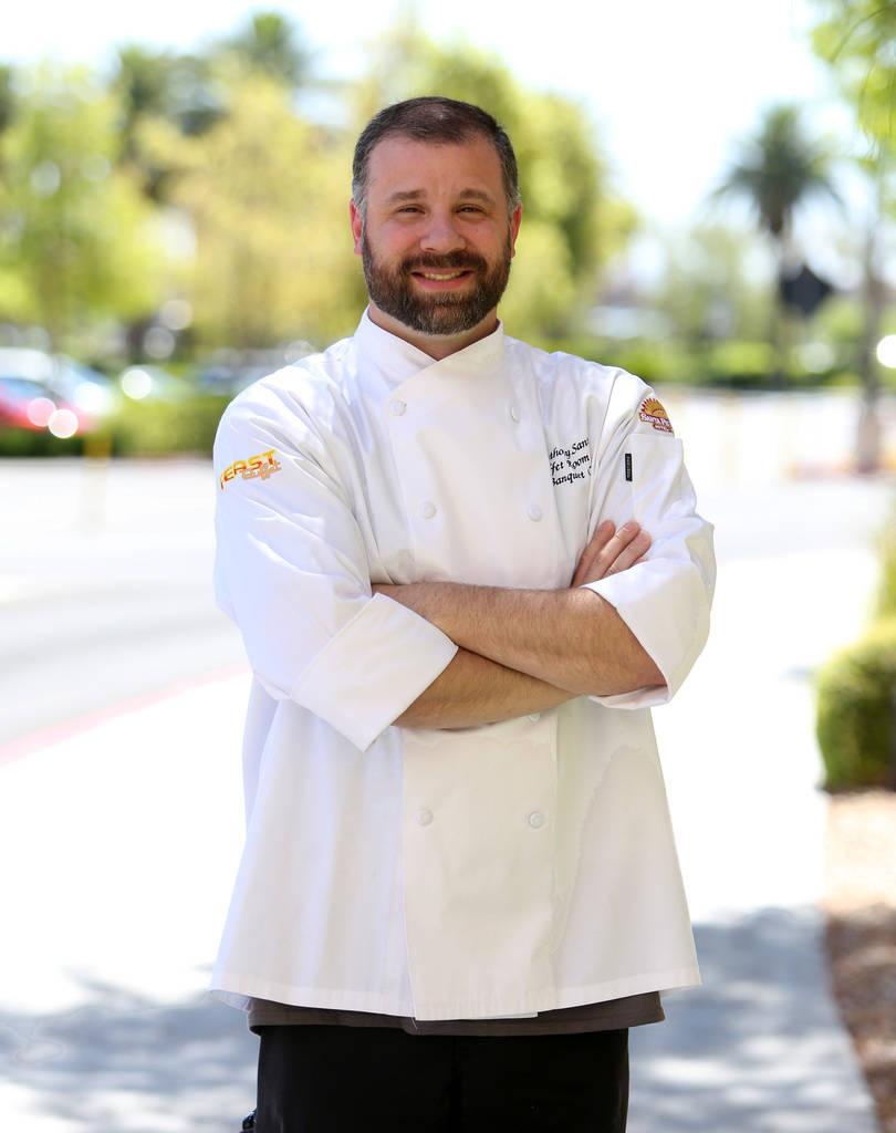 Chef Anthony Santori poses for photo at Santa Fe Station on Friday, June 22, 2018, in Las Vegas. Bizuayehu Tesfaye/Las Vegas Review-Journal @bizutesfaye