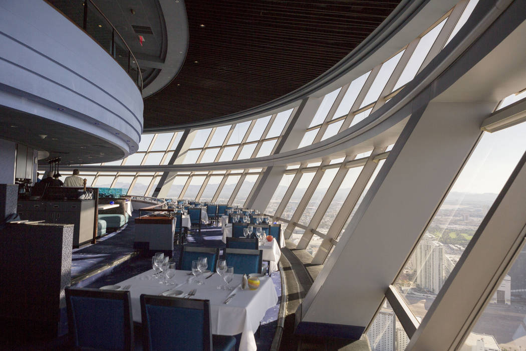 Tower's Top of the World restaurant in Las Vegas, Tuesday, Oct 31, 2017.(Elizabeth Brumley/Las Vegas Review-Journal) @EliPagePhoto