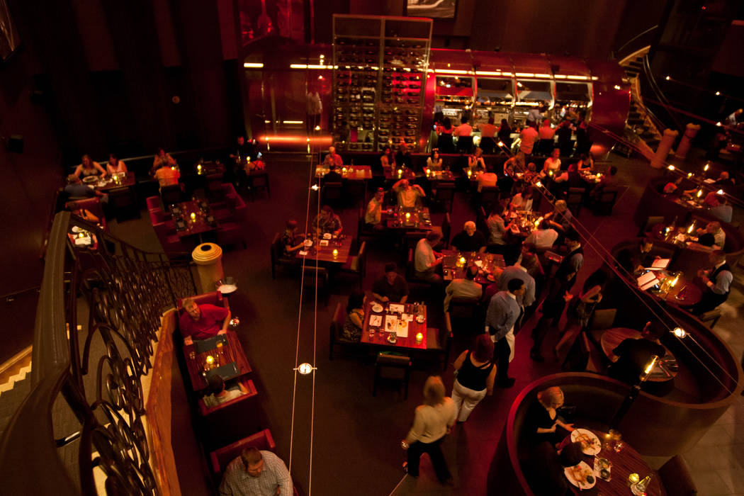 The interior of the Gordon Ramsay Steak restaurant at The Paris Las Vegas hotel-casino is shown Saturday, July 28, 2012. (Chase Stevens/Las Vegas Review-Journal) The interior of the Gordon ...