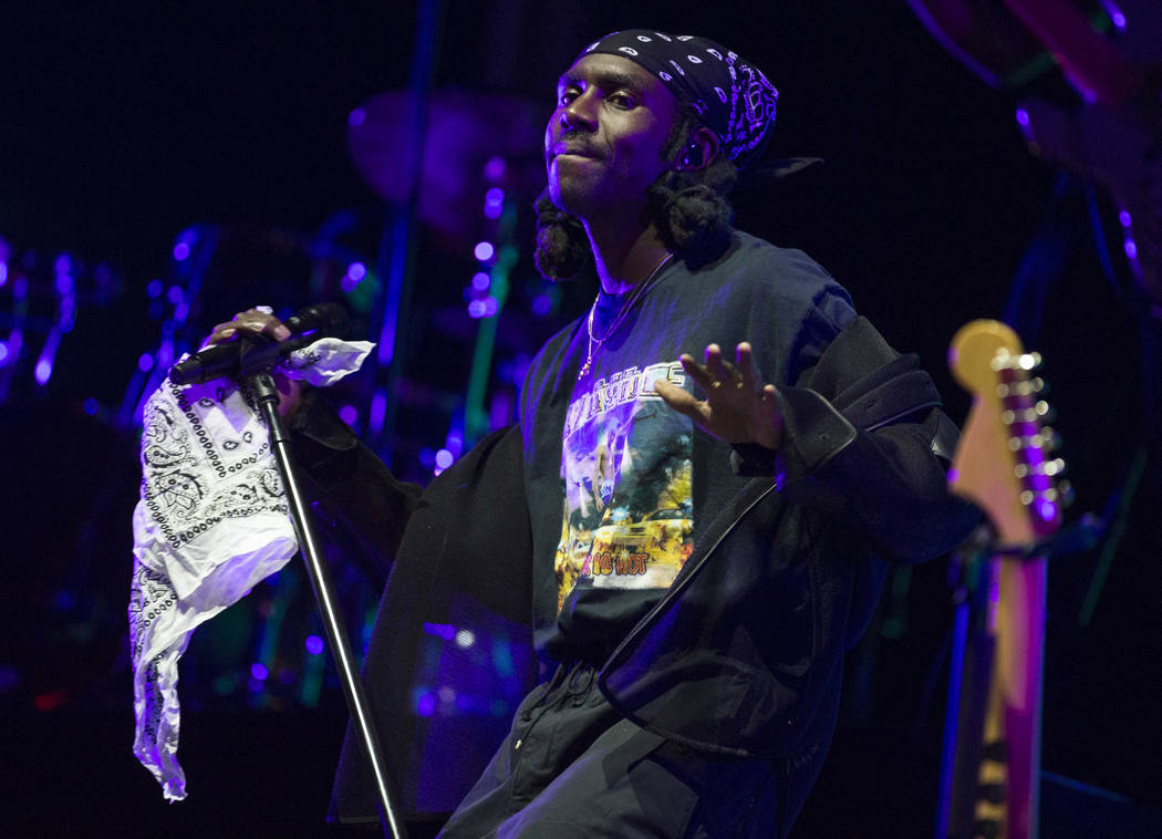 British singer-songwriter Blood Orange performs at the Bacardi Sound of Rum stage on day two of the annual Life is Beautiful festival in downtown Las Vegas on Saturday, Sept. 22, 2018. Richard Bri ...