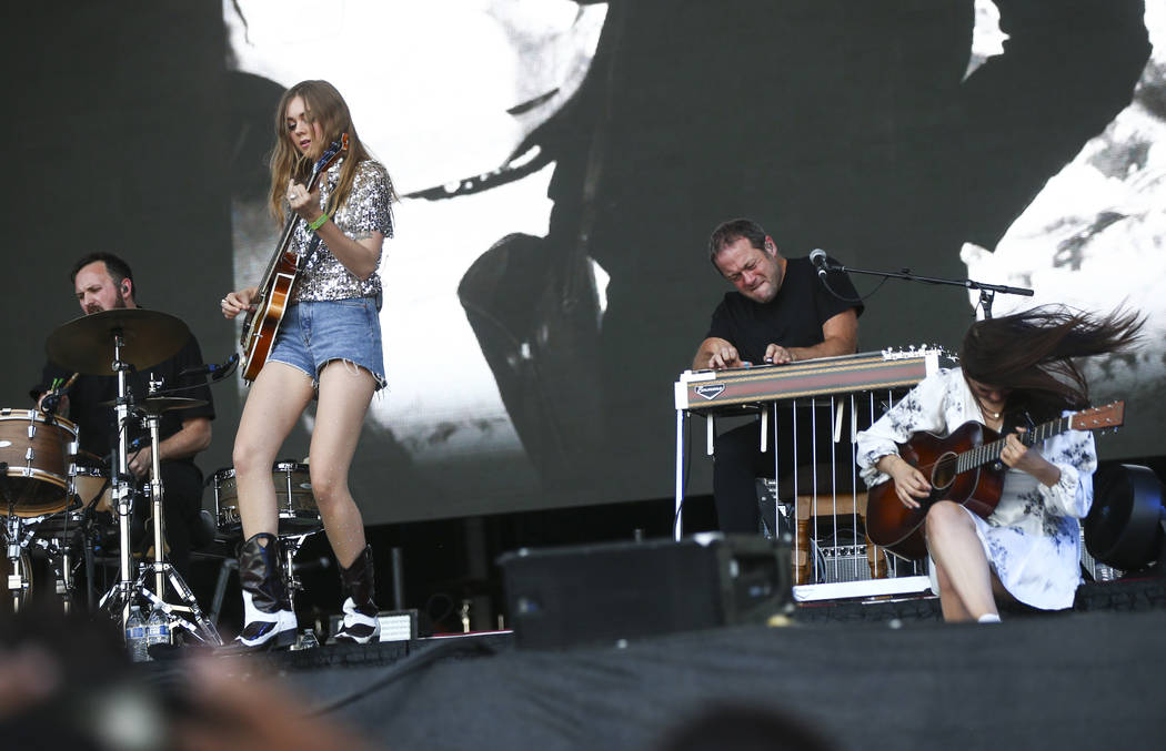 First Aid Kit performs during the third day of the annual Life is Beautiful festival in downtown Las Vegas on Sunday, Sept. 23, 2018. Chase Stevens Las Vegas Review-Journal @csstevensphoto