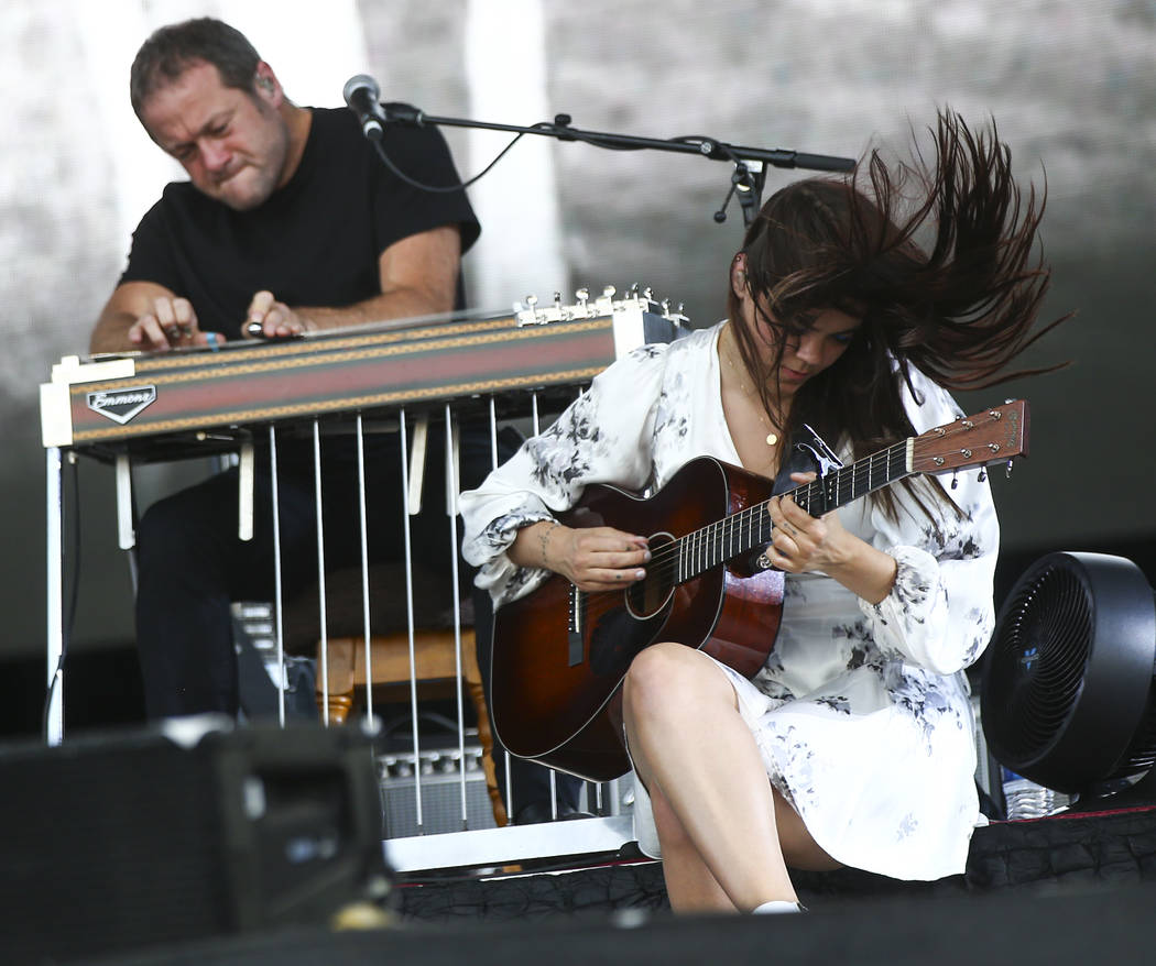 Klara Sderberg of First Aid Kit performs during the third day of the annual Life is Beautiful festival in downtown Las Vegas on Sunday, Sept. 23, 2018. Chase Stevens Las Vegas Review-Journal @csst ...