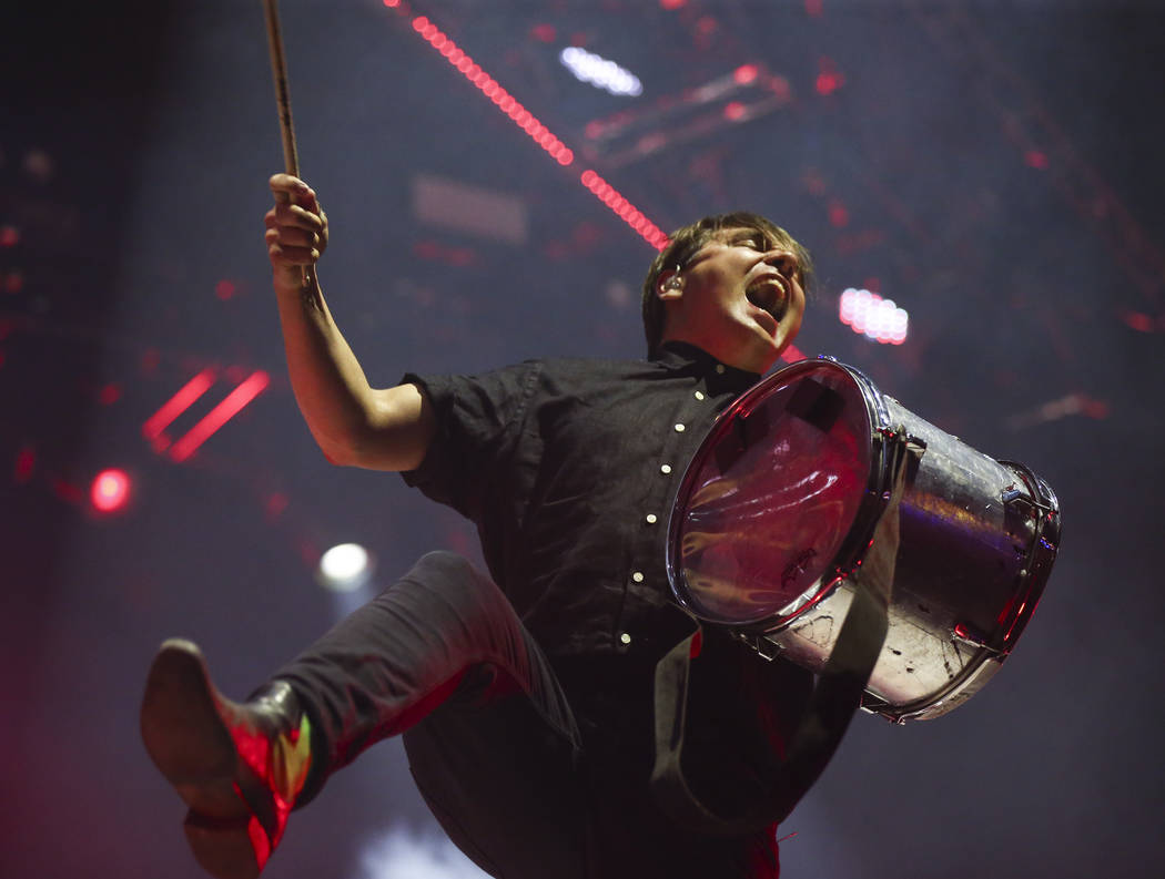 William Butler of Arcade Fire performs during the third day of the annual Life is Beautiful festival in downtown Las Vegas on Sunday, Sept. 23, 2018. Chase Stevens Las Vegas Review-Journal @csstev ...