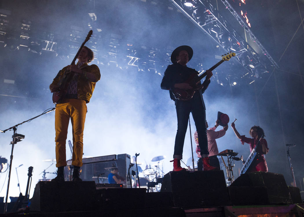 Arcade Fire performs during the third day of the annual Life is Beautiful festival in downtown Las Vegas on Sunday, Sept. 23, 2018. Chase Stevens Las Vegas Review-Journal @csstevensphoto