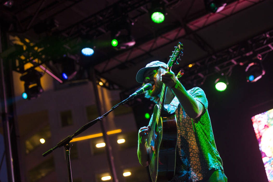 Matt Quinn of Mt. Joy performs during the third day of the annual Life is Beautiful festival in downtown Las Vegas on Sunday, Sept. 23, 2018. Chase Stevens Las Vegas Review-Journal @csstevensphoto