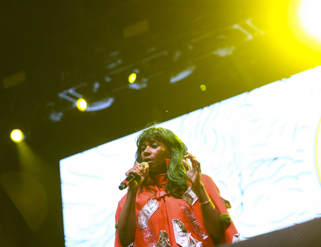 Santigold performs during the third day of the annual Life is Beautiful festival in downtown Las Vegas on Sunday, Sept. 23, 2018. Chase Stevens Las Vegas Review-Journal @csstevensphoto
