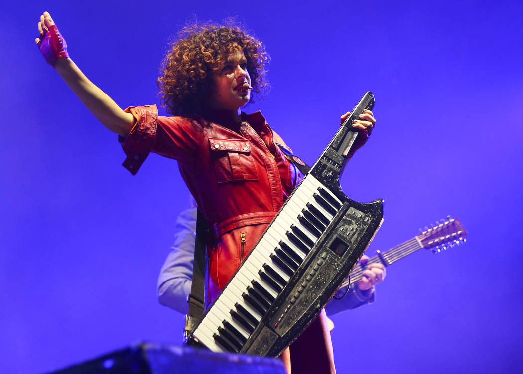 Regine Chassagne of Arcade Fire performs during the third day of the annual Life is Beautiful festival in downtown Las Vegas on Sunday, Sept. 23, 2018. Chase Stevens Las Vegas Review-Journal @csst ...