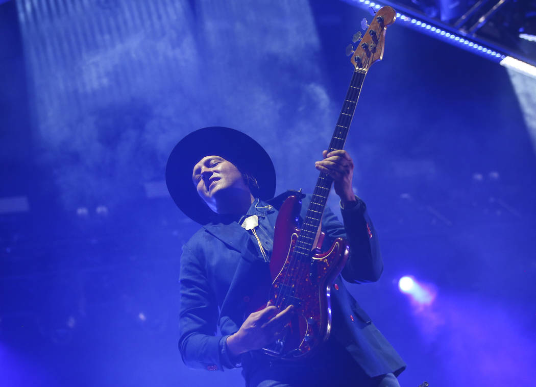 Win Butler of Arcade Fire performs during the third day of the annual Life is Beautiful festival in downtown Las Vegas on Sunday, Sept. 23, 2018. Chase Stevens Las Vegas Review-Journal @csstevensphoto
