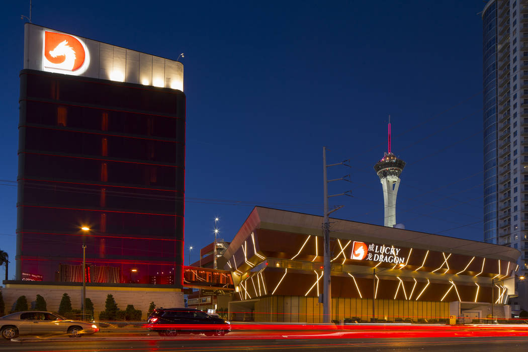 The Lucky Dragon, at 300 W. Sahara Ave., is seen Sept. 18. (Richard Brian Las Vegas Review-Journal @vegasphotograph)