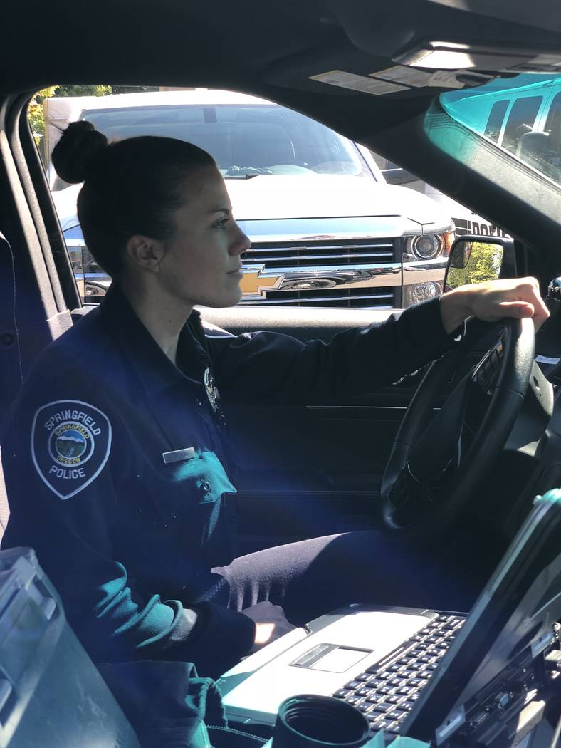 After surviving the Oct. 1 shooting in Las Vegas, Lauren Card joined the police department in Springfield, Oregon, because she wanted to be someone people could turn to in an emergency. Springfiel ...