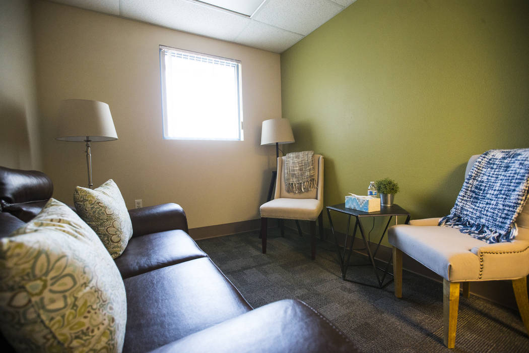 A family room at the Vegas Strong Resiliency Center in Las Vegas on July 31, 2018. Chase Stevens Las Vegas Review-Journal @csstevensphoto