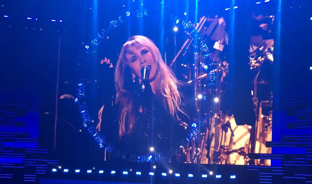 Stevie Nicks of Fleetwood Mack is shown on the first night of the iHeartRadio Music Festival at T-Mobile Arena on Friday, Sept. 21, 2018. (John Katsilometes/Las Vegas Sun)