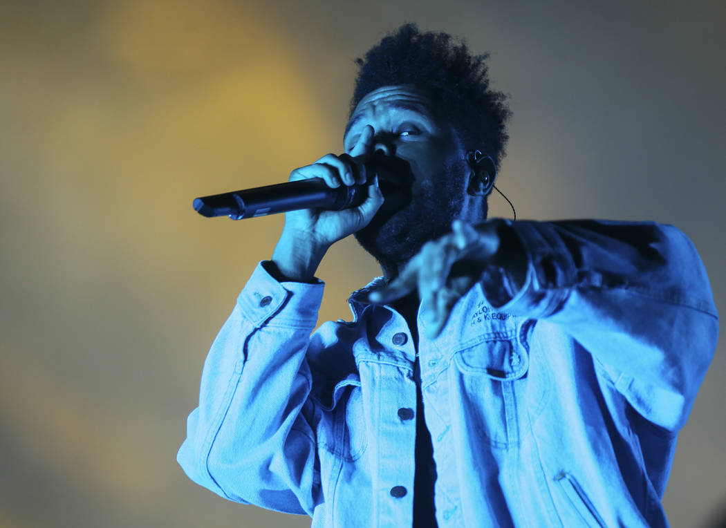 The Weeknd closes out the first night of the annual Life is Beautiful festival with a headlining set in downtown Las Vegas on Friday, Sept. 21, 2018. Chase Stevens Las Vegas Review-Journal @csstev ...