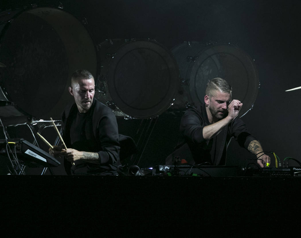 Swedish DJ duo Galantis performs on Day 2 of the annual Life is Beautiful festival in downtown Las Vegas on Sunday, Sept. 23, 2018. Richard Brian Las Vegas Review-Journal @vegasphotograph