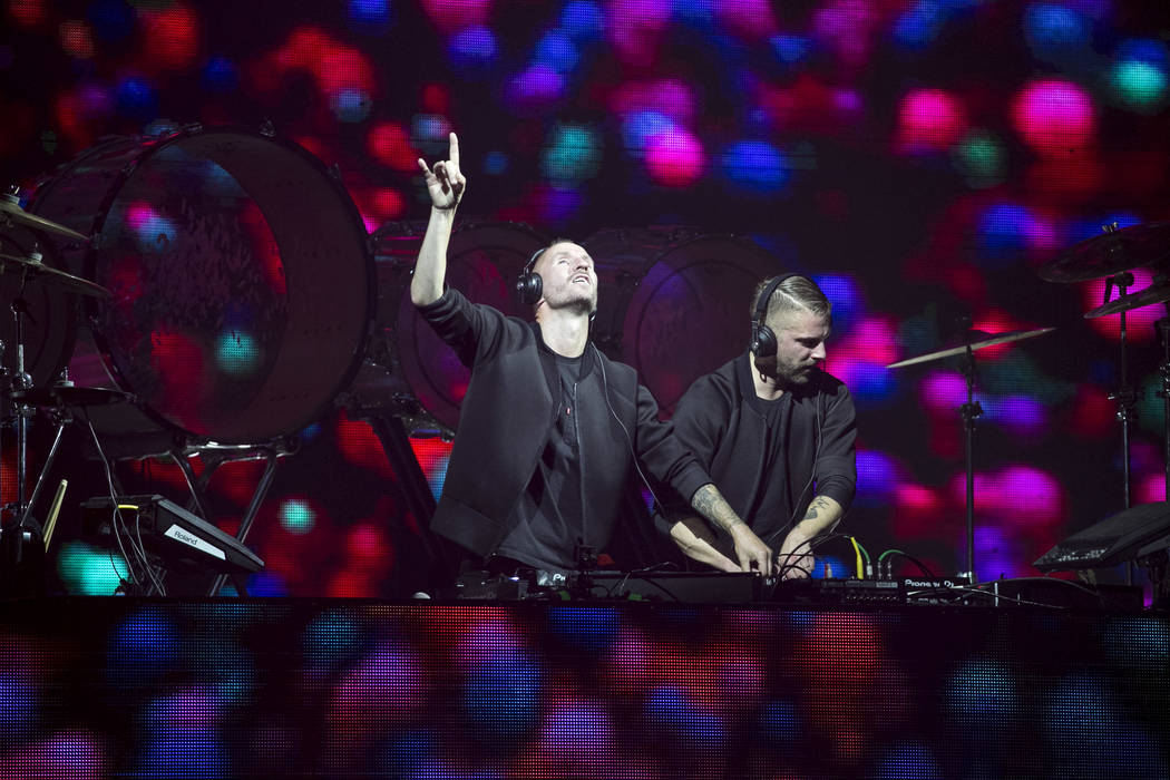 Swedish DJ duo Galantis performs on day two of the annual Life is Beautiful festival in downtown Las Vegas on Sunday, Sept. 23, 2018. Richard Brian Las Vegas Review-Journal @vegasphotograph