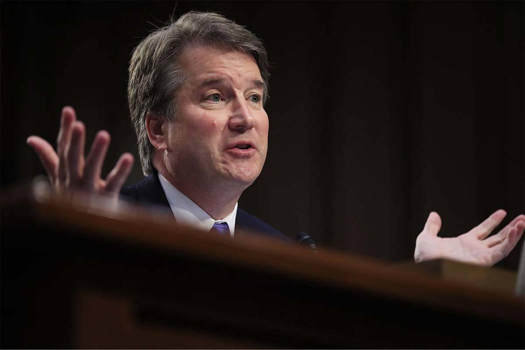 Supreme Court nominee Brett Kavanaugh testifies before the Senate Judiciary Committee on Capitol Hill in Washington. (Manuel Balce Ceneta/AP)