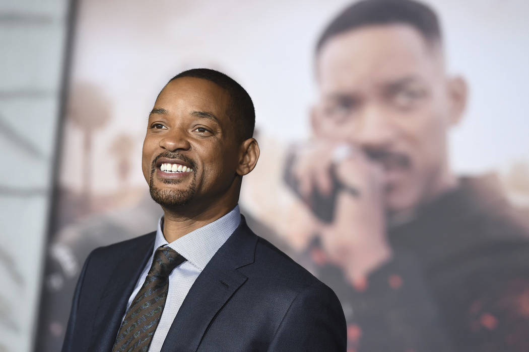 "Will Smith arrives at the U.S. premiere of ""Bright"" in Los Angeles, Dec. 13, 2017. When Smith turns 50 on Tuesday, Sept. 25, 2018, he plans to bungee jump from a helicopter over a gorge just outsi ..."