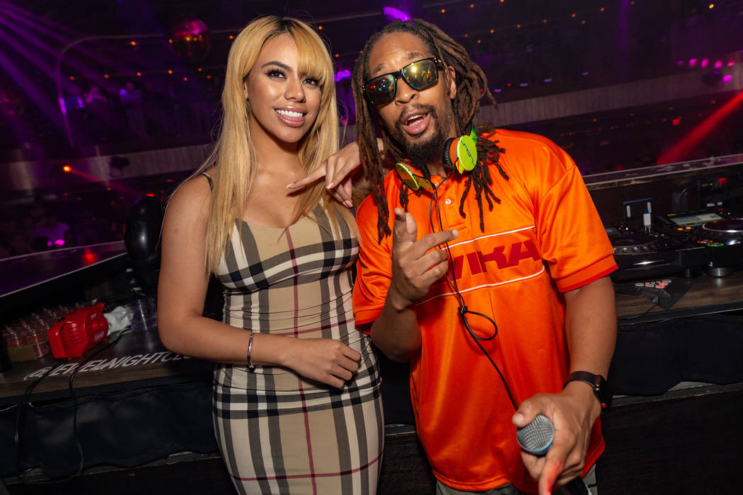 Dinah Jane of Fifth Harmony is shown with Lil Jon at Jewel Nightclub at Aria on Sept. 23, 2018 (Sam Hamoui)