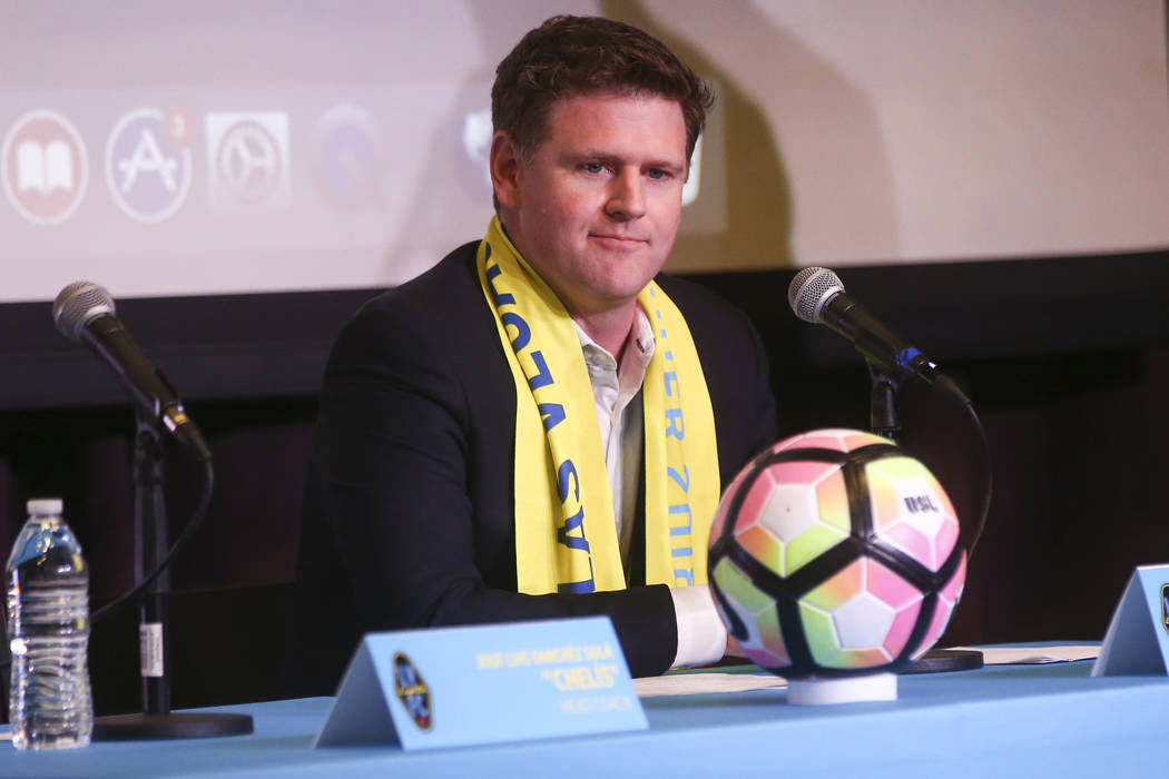 Las Vegas Lights FC owner Brett Lashbrook, on Tuesday, Nov. 14, 2017. The new team, part of the United Soccer League, is slated to play at Cashman Field in 2018. Chase Stevens Las Vegas Review-Jou ...